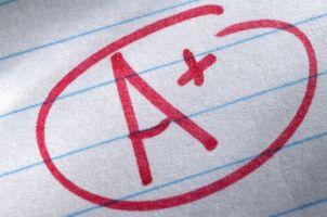 A+ grade written on paper