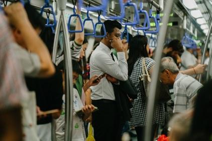 Crowded train