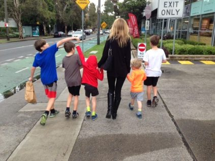 Nicole Melanson - Writer Poet Editors of WordMothers - and 5 sons