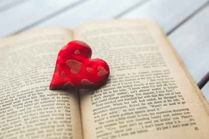 Heart over book