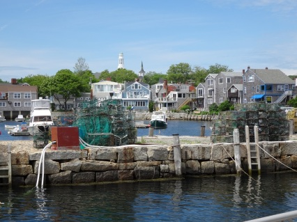 Lobster traps and houses - Nicole Melanson